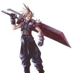 Colored version of early Cloud with an alternate Buster Sword.