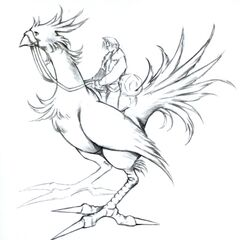 Chocobo riding artwork.