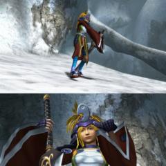 Rikku's victory pose.