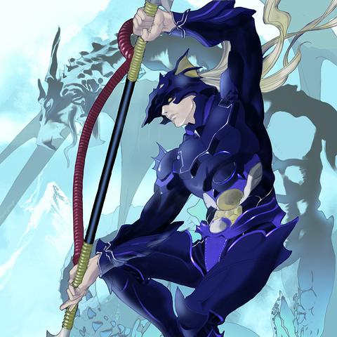 Artwork of Kain's card.