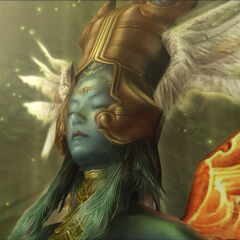 Close-up of Ultima's face in <i>Final Fantasy XII</i>.