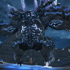 Atlas in battle.