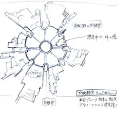 Plate concept art for <i>Final Fantasy VII</i>.