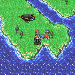 Nikeah on the world map in the World of Ruin (GBA).