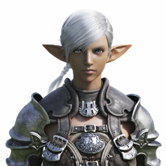 Elezen female CG bust, used in the Legacy opening cinematic.