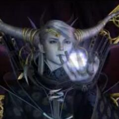 The Emperor in the opening FMV for <i>Final Fantasy Origins</i>.