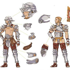 Concept art of the Dalmascan soldier attire.