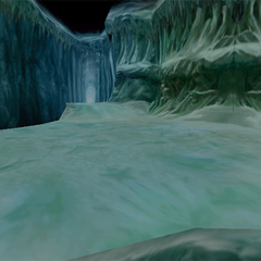 A battle background in Ice Cavern.