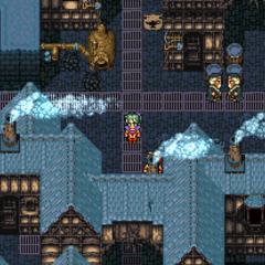 The town of Narshe (SNES).