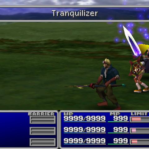 Tranquilizer in-battle in <i><a href=