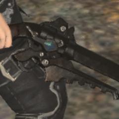 Cid's Gunblade in <i>Final Fantasy XIV</i>.