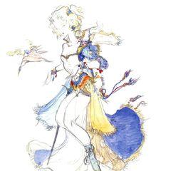 Alternate Yoshitaka Amano artwork of Terra.