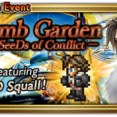 Global event banner for Balamb Garden, The SeeDs of Conflict.