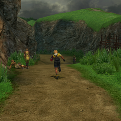 The road to Moonflow in <i>Final Fantasy X</i>.