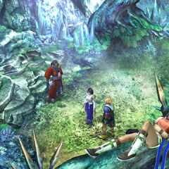 The camp site in <i>Final Fantasy X</i>.