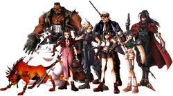 Playable characters in Final Fantasy VII.