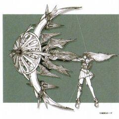 Concept art of Minerva using Judgement Arrow.