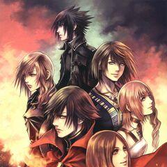 Artwork from the Dengeki cover.