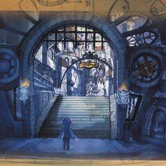 Lindblum Earth Dragon Gate.