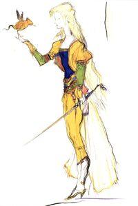 Celes' character design by Yoshitaka Amano.