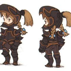 Early DS concept art of the Dark Knight job for Refia by Akihiko Yoshida.