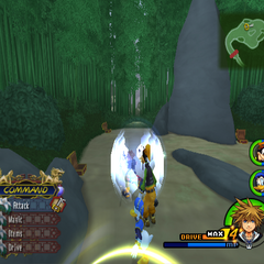 Reflect activated in <i>Kingdom Hearts II</i>.