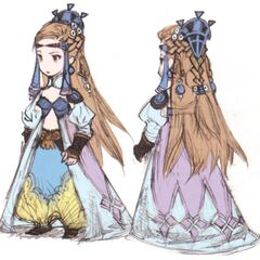 Concept art of Princess Sara for the DS version by Akihiko Yoshida.