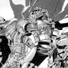The Archadian Judges in the <i>Final Fantasy XII</i> Manga adaptation.