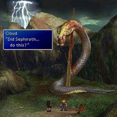 Midgar Zolom slain by Sephiroth.