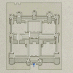 Map of Baron Castle's outers (DS).