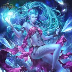 Shiva's <i>FFVII</i> ability card artwork.