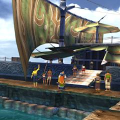 <i>S.S. Liki</i> at Besaid Dock.