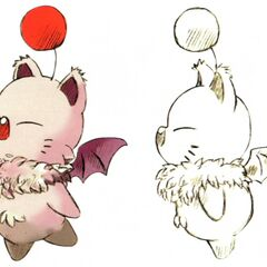 Concept artwork of a maned moogle.