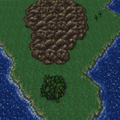 Triangle Island in the World of Balance (SNES).