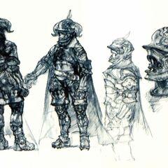 Gabranth's concept art.