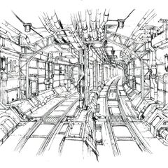 Concept art of Winding Tunnel.