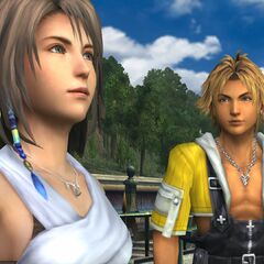 Tidus and Yuna in Luca.