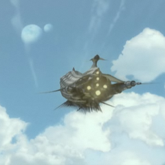 The <i>Lunar Whale</i> from the opening FMV for <i>The After Years</i> in <i><a href=