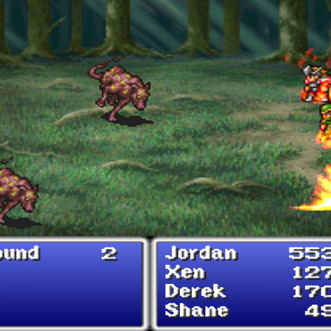 Blaze in the <i>Final Fantasy Origins</i> version.