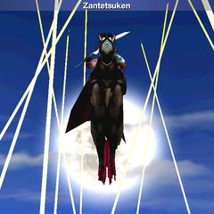 Zantetsuken in the <i>Final Fantasy IV</i> (iOS).