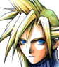 Cloud's portrait during normal gameplay.