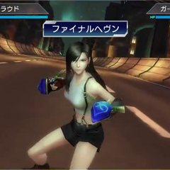 Tifa powering up an attack.