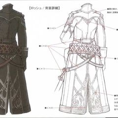 Detailed artwork of Rosch's coat.