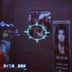Aerith posters in <i>Dirge of Cerberus -Final Fantasy VII-</i>.