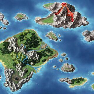 Map of the Grandshelt Isles.