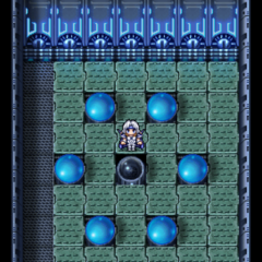 Save point in hi-tech dungeons in <i><a href=