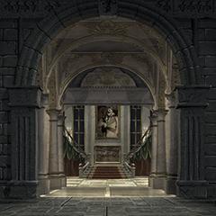 The entrance to Alexandria Castle.