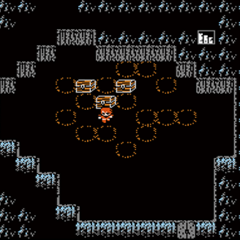 The Japanese dungeon image for <i>Cavern of Ice</i> in <i><a href=