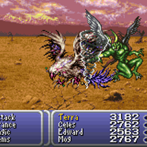 Enkidu being summoned (GBA).