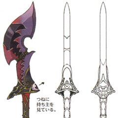 Concept artwork for the Blood Sword.